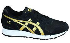 Asics Gel-Movimentum Lace Up Black Gold Textile Womens Trainers H7X7L 9094 M6