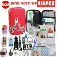 416 PCS First Aid Medical Emergency Portable Kit for Home Camping Hiking Travel