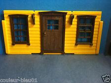 PLAYMOBIL Western - 1 cadre marron +fenêtre pour maison ancienne (façade exclue)