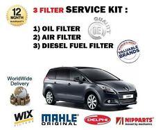 PARA PEUGEOT 5008 1.6hdi 10/2009- > NUEVO DE ACEITE AIRE Fuel x 3 kit servicio