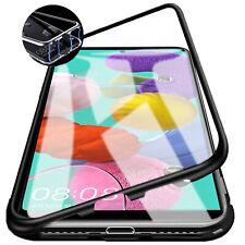 360° Handy Metall Tasche Case Schutzhülle Samsung Galaxy A51 A71 + 9H HartGlas