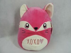 """New Squishmallows 16"""" Fern Pink Fox Valentines XOXO With Tags RARE 2018 Plush"""