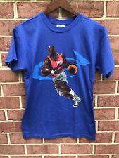 Vintage 90's Bike Michael Jordan Cartoon Bulls Blue T Shirt L Basketball Rare OG