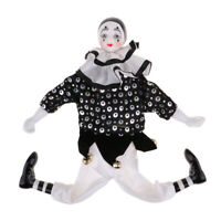 38CM Porcelain Clown Doll with Beautiful Outfit and Ceramic Face, Gift for Clown