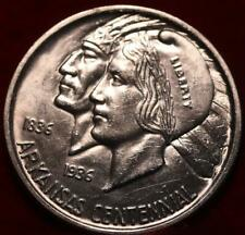 Uncirculated 1936 Arkansas Silver Comm Half