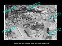 OLD LARGE HISTORIC PHOTO LOWER HUTT NEW ZEALAND AERIAL VIEW OF THE TOWN c1950 1