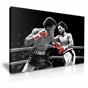 Sugar Ray Leonard vs Roberto Duran The Super Fight Boxing Print Canvas ~ 5 Size