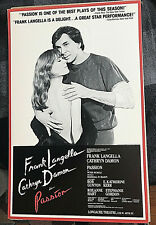 Passion Frank Langella BROADWAY WINDOW CARD 1983