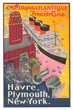 French Line Normandie Havre Poster  24 x 36