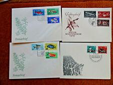 9310) DDR:  4 FDC Ersttagsbriefe 50er Jahre