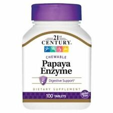 Papaya Enzyme Chewable 100 Tabs by 21st Century