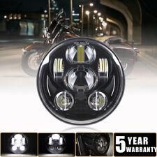 DOT 5.75 Inch  5 3/4 Round LED Headlight Black For Harley-Davidson Breakout Dyna