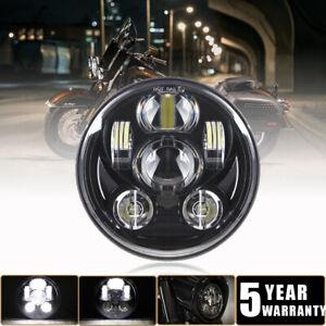 "DOT 5-3/4"" 5.75 in LED Headlight Hi-Lo Beam For Harley Dyna Softail VRod Sport"