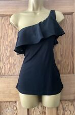 BNWT H&M Black One Shoulder Summer Top. Size Small 8 10.  H & M. New. Ruffle