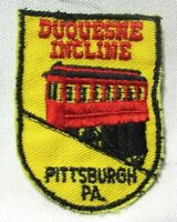 Vintage Duquesne Incline Patch Pittsburgh Pennsylvania 1970's Cable Car Travel