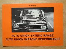 AUDI 80 & Super 90 orig 1966-67 UK Mkt Sales Brochure - Auto Union