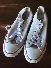 Old Converse 6 Mens Canvas Chuck Taylor Low All Star Shoes White VINTAGE