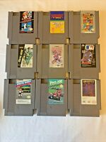 LOT OF 9 NINTENDO NES (NINTENDO ENTERTAINMENT SYSTEM) GAMES ALL WORK GREAT