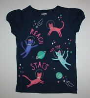 NEW Gymboree Blue Space Kitty Cats Tee Shirt Top NWT Sz 2T 3T 4T 5T Miix N Match