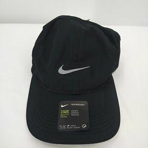 Nike Men's Running Dry FeatherLight Cap One Size Black Dri-Fit AR1998-010 NEW
