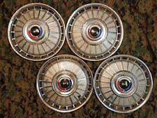 """1962 62 Ford Galaxie LTD Falcon 14"""" inch wheel hub caps fomoco oem set of 4"""