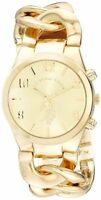 Accutime Watch Corp. U.S. Polo Assn. Womens Gold-Tone Link Bracelet