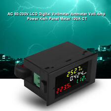 AC 80-300V 100A Pannello Voltmetro Amperometro Digitale LCD Volt Amp Kwh Meter