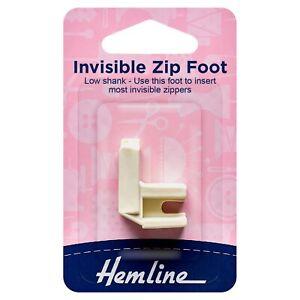 Hemline Invisible Zip Foot - Plastic Low shank  H162