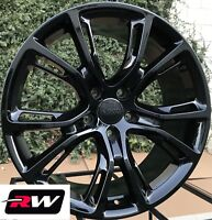 "20"" inch RW Wheels for Jeep Grand Cherokee 20x9 Gloss Black SRT8 Rims & Lug Nuts"