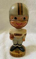 VINTAGE 1960s AFL NFL DALLAS COWBOYS BOBBLEHEAD NODDER BOBBLE HEAD