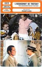 L'ASSASSINAT DE TROTSKY - Burton,Delon,Schneider,Losey (Fiche Cinéma) 1972