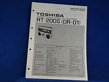 Toshiba RT-200S (DR-01) Radio Cassette Recorder Service Manual