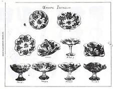 Dugan Glass ca 1904 catalog reprint-opalescent intaglio
