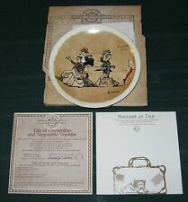 """Newell Pottery Norman Rockwell on Tour """"Promenade a Paris"""" Plate"""