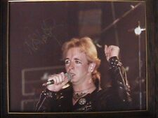 JUDAS PRIEST ROB HALFORD COLOR PHOTO # 2 OHIO UNIVERSITY 9/19/79 AUTOGRAPHED