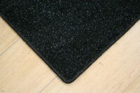 Glitter Sparkle Black Rug 6'ft x 4'ft Large Shiney Black Glitter / Sparkle Rug