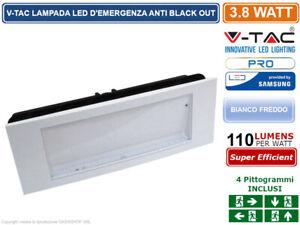 V-TAC VT-511S LAMPADA LED D'EMERGENZA ANTI BLACK OUT CHIP SAMSUNG DA INTERNO 899