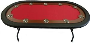 10-seat High Quality Poker Table with Cup Holders, Strong & Foldable Metal Legs