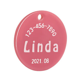 Resin Mold Round Shape Personalized Dog Tag Collar Keychain Charms Customization