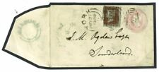 G140a Great Britain Cover 1855 Welburn 1d Pink Uprated York S/duplex/Sunderland