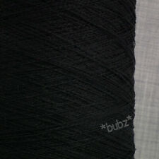 ZEGNA BARUFFA VISCOSE LINEN YARN BIG 900g CONE BLACK MACHINE KNITTING & WEAVING