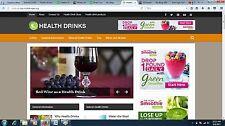 Health Drinks Turnkey ADSENSE Website For Sale Ready to go clickbank website