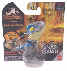 Jurassic World Camp Cretaceous Snap Squad Figure, Velociraptor Blue(Blue/Silver)