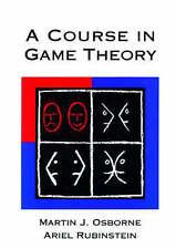 A Course in Game Theory by Martin J. Osborne, Ariel Rubinstein (Paperback, 1994)
