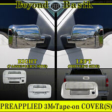 04-08 F150 Chrome Door Handle COVERS No PSK W/KP+Mirror Overlays+Tailgate Accent