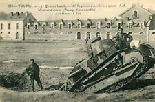 TOURS Quartier Lasalle 501 è Régiment Artillerie Char d'assaut Passage Tranchée