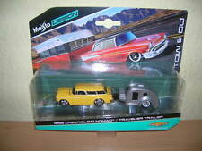 Maisto Tow & Go 1955 Chevrolet Nomad/Traveler Trailer 1:64