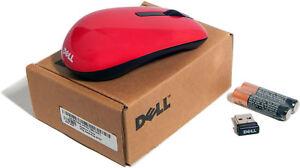 Dell WM311 Red Wireless Mini Mouse W Receiver New 67JGG