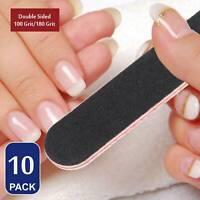 10x Nail Files Sanding Grit Buffer Emery Board Gel Nail File Pedicure Manicure