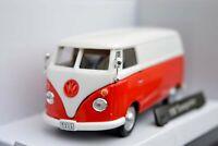 VW VOLKSWAGEN PANEL VAN 1:43 Car NEW Bus Diecast Camper Cars Die Cast Red